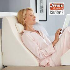 Back Support Bed Neck Pillow Wedge Cushion Memory Foam Acid Reflux Arthritis