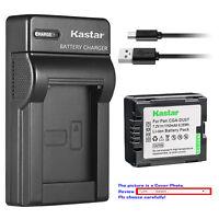 Kastar Battery Slim Charger for Panasonic CGR-DU07 CGA-DU07 & NV-GS10 NV-GS17
