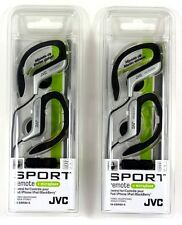 Lot of (2) JVC HAEBR80S Sport-Clip In-Ear Headphone/Earphone with Microphone&Rem