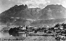 France - Annecy, Dents de Lanfon et le Chateau de Duingt - Postcard Franked 1961