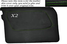GREEN STITCH 2X FRONT FULL DOOR CARD SKIN COVERS FITS MERCEDES W123 1978-1985