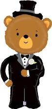 """LINKY sposo BEAR LARGE 49"""" SUPER forma Foil Palloncino Matrimonio (vendiamo anche sposa)"""