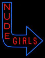 "New Live Nude Girls Beer Bar Pub Neon Light Sign 17""x14"""