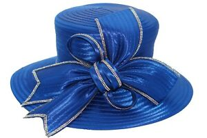 Women's Derby Hat Satin Ribbon Church Hat Kentucky Derby Hat