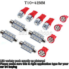 12pcs Bright Red LED Lights Interior Kit for T10 & 42MM Map Dome + License Plate