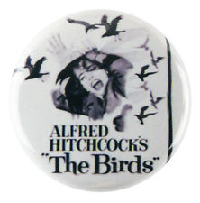 "1"" (25mm) 'The Birds' Alfred Hitchcock Horror Button Badge Pin - Custom Badge"