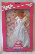 NET 1995 BARBIE FASHION COLLECTIBLE ~ WHITE ORGANZA w/GLITTER LACE BRIDAL OUTFIT