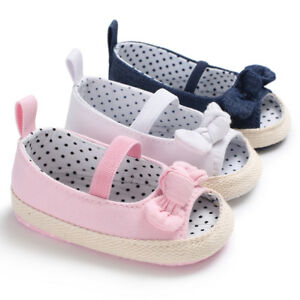 Baby Girl Soft Sole Crib Shoes Infant Open Toes Summer Sandals 3 6 9 12 18Months