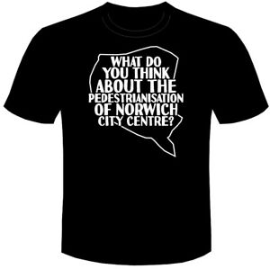 ALAN PARTRIDGE Tee T-shirt tshirt What Do You Think About Norwich City Centre?