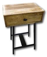 Retro Vintage Nachttisch Bett-Tisch Tisch Mango-Holz geölt Konsole Beistelltisch
