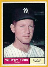 Whitey Ford - 1961 Topps #160 UER/Incorrectly listed/as 5'0 tall