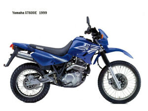 Motorcycle Canvas Picture Yamaha XT600E 1999 Canvas 16x12 inch
