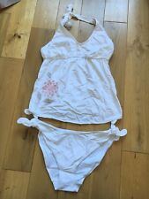 BNIP AMORALIA Maternity Ladies Pretty White/Pink Floral Tankini Set XL 16