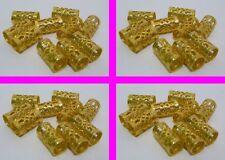 100 X oro granos del metal pelo rastas Dread Trenzas Anillos Rasta Envoltura Tubo Hueco