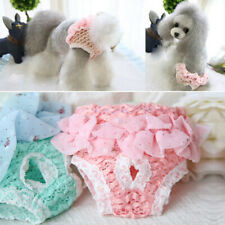 Dog Puppy Disposable Diapers Pet Nappy Menstrual Sanitary Green Pink Underwear