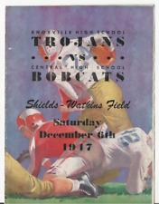 1947 KNOXVILLE TROJANS VS CENTRAL BOBCATS SHIELDS WATKINS FIELD FOOTBALL PROGRAM