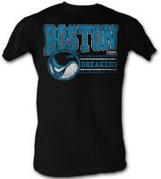 Boston Breakers USFL Logo Men's Tee Shirt Lightweight Black Sizes S-5XL