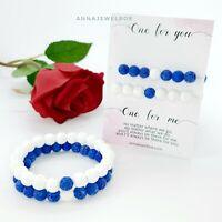 Valentine's Gift for Her Boyfriend Husband Wife Couples Bracelets FREE Card, Bag