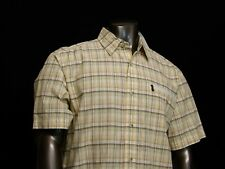 Men's Columbia Short Sleeve Shirt Meadow Glade Plaid Shirt Large NEW NWT