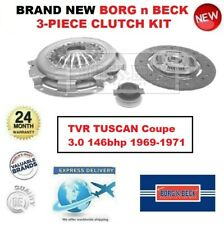 Brand New BORG n BECK 3-PC CLUTCH KIT for TVR TUSCAN Coupe 3.0 146bhp 1969-1971