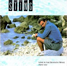 STING THE POLICE RARE ORIGINAL 1985 PICTURE SLEEVE 45 * LOVE IS THE SEVENTH WAVE
