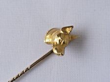 Cabeza de zorro vintage pin de palo marcado 18 C peso 3.7 Gr