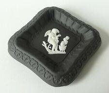 Wedgwood Black Jasperware Cherub Diamond Pin Dish