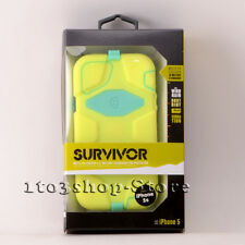 Griffin Survivor iPhone 5 5s iPhone SE Hard Case w/Holster Clip Lime/Teal Green