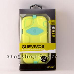 Griffin Survivor iPhone 5 iPhone 5s iPhone SE Case w/Belt Clip - Lime/Teal Green