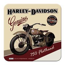 HARLEY DAVIDSON PANHEAD - METALL UNTERSETZER 9x9cm COASTER 46106