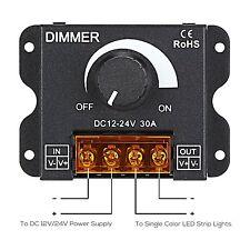 DC12V/24V 30A 2CH LED Switch Dimmer Controller For 5050 Led Strip Single Color