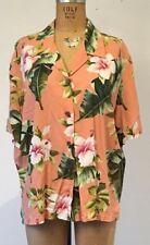 Bishop St. Apparel size 18 Women's Vintage 90s Aloha Peach Hawaiian Shirt EUC