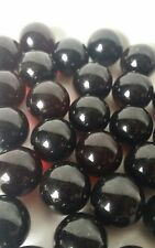 """Lot of 30 Vintage Dark Red Glass Marbles 0.5"""" to 9/16"""""""