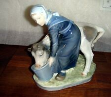 GIRL WITH CALF by Chr. Thomsen for ROYAL COPENHAGEN # 779 FIRST CLASS