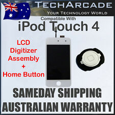 iPod Touch 4 4th Gen LCD Display Digitizer Touch Screen Glass White Home Button