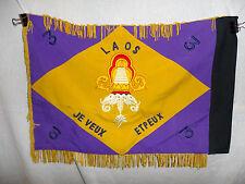 flag156 France Indochina Fanion 1st Regiment 1RCP 3 Battalion Loas Colonial