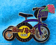 AMSTERDAM DUTCH BIKE SERIES PURPLE BICYCLE MAY 2005 TULIPS Hard Rock Cafe PIN LE