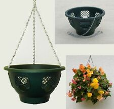 "8 X 12"" NEW EASY FILL HANGING BASKETS (BLACK) EASY FILL"