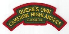 CANADA Canadian Forces Queen's own Cameron Highlanders shoulder flash badge