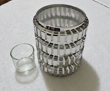 "ENCHANTED LINEAR CANDLE HOLDER FOR ESSENTIAL JAR  VOTIVE TEALIGHT 5"" X 4"" NEW"