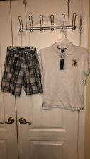 U.S. Polo Assn. boy 2pcs shirt & short set 8 Medium