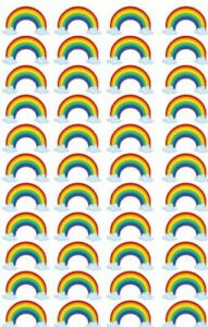 Edible Cupcake Top- 44 PRE CUT RAINBOW  - Wafer/ Rice Paper or Icing