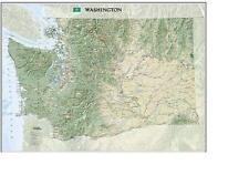 National Geographic Washington State Laminated Wall Map