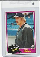 1981 TOPPS #315 KIRK GIBSON ROOKIE CARD SHARP FROM VENDING CENTERED MINT .99 S&H
