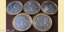 Congo Tchad Cameroon Gabon CFA 2007 JOHN PAUL II set of 5 coins UNC