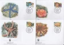 WWF 4 x FDC Britisch Indian Ocean Territory 2001 - Zeester Starfish (082)