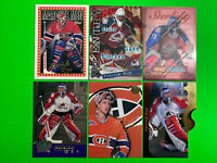 Patrick Roy NHL Hockey Lot X6 Montreal Canadiens Colorado Avalanche Inserts