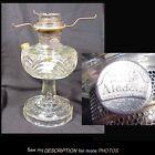 Vintage Aladdin Clear Crystal Kerosene Oil Lamp Washington Drape