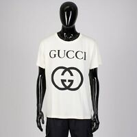 GUCCI 480$ Oversize Tshirt With Interlocking G In Off White Cotton