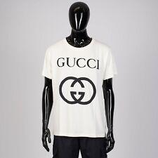 GUCCI 480$ Oversize Tshirt With Interlocking G In Off White Cotton